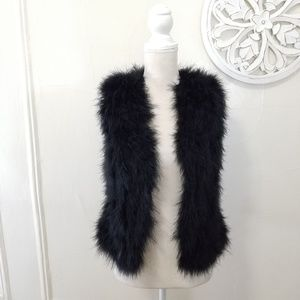 Club monaco size XS Turkey feathers vest